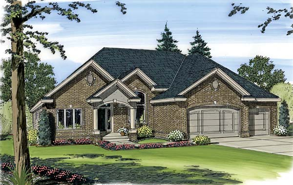 Traditional House Plan 44006 Elevation