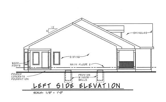 One-Story, Traditional House Plan 44009 with 3 Beds, 2 Baths, 2 Car Garage Picture 1
