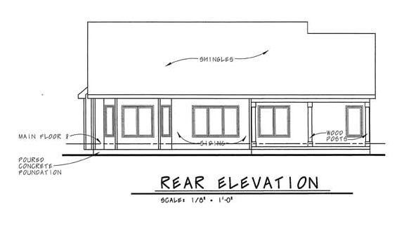 Traditional House Plan 44009 Rear Elevation