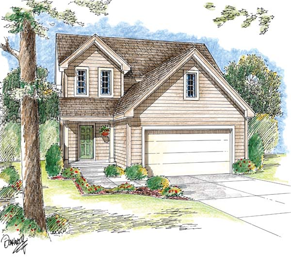 Traditional House Plan 44011 Elevation