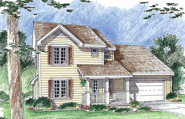 Traditional House Plan 44016 Elevation