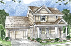 Traditional House Plan 44017 Elevation