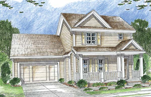 Traditional House Plan 44017 with 3 Beds, 3 Baths, 2 Car Garage Elevation