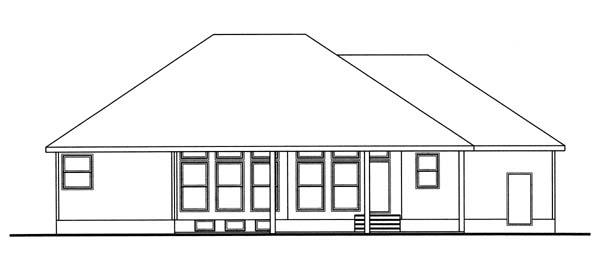 Bungalow Traditional House Plan 44019 Rear Elevation
