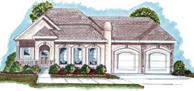Florida , Mediterranean , Southwest House Plan 44020 with 2 Beds, 2 Baths, 2 Car Garage Elevation