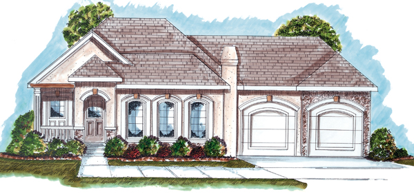 Florida Mediterranean Southwest House Plan 44020 Elevation