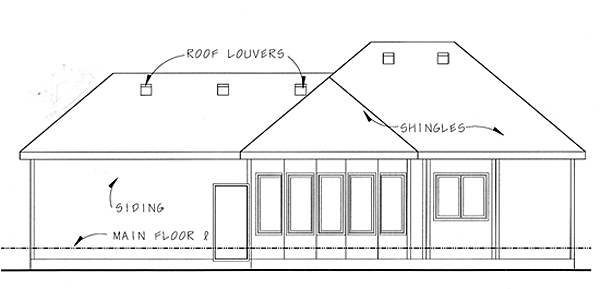 Florida Mediterranean Southwest House Plan 44020 Rear Elevation