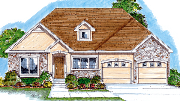 Bungalow Traditional House Plan 44023 Elevation