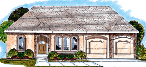 Florida Mediterranean Southwest House Plan 44026 Elevation