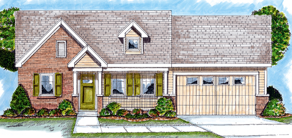 Bungalow Traditional House Plan 44027 Elevation