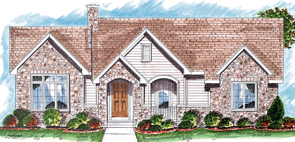 Bungalow Country Traditional House Plan 44032 Elevation
