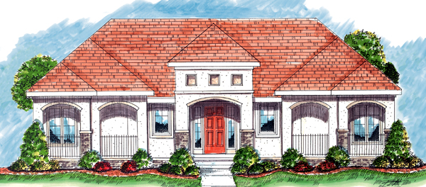 Florida Mediterranean Southern House Plan 44033 Elevation