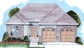 Traditional House Plan 44034 Elevation