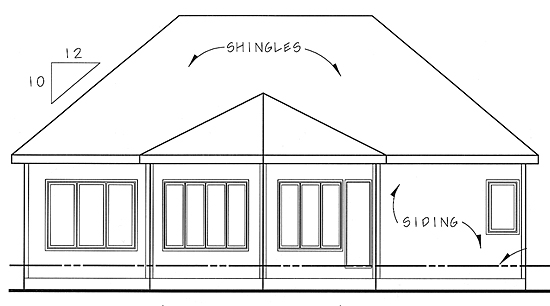 Traditional House Plan 44034 Rear Elevation