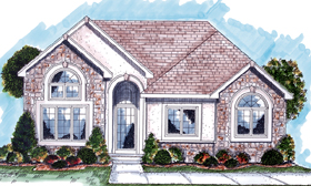 European Traditional House Plan 44036 Elevation