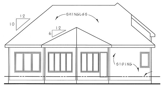 European Traditional House Plan 44036 Rear Elevation