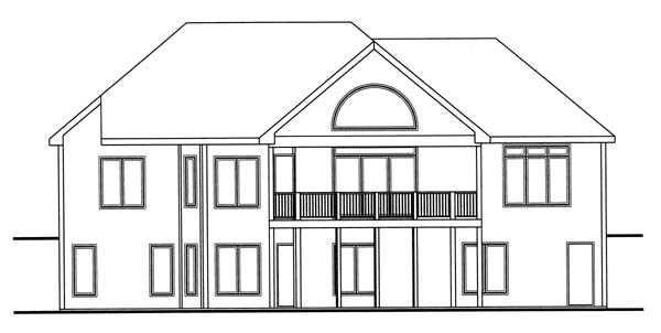 Traditional House Plan 44037 Rear Elevation