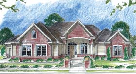 Traditional House Plan 44038 Elevation