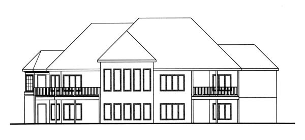 Traditional House Plan 44038 Rear Elevation