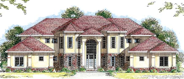 Florida Mediterranean Southwest House Plan 44040 Elevation