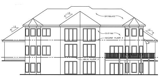 Florida Mediterranean Southwest House Plan 44040 Rear Elevation