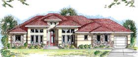 Florida Mediterranean Southwest House Plan 44042 Elevation