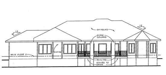 Florida Mediterranean Southwest House Plan 44042 Rear Elevation