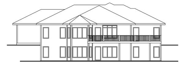 Florida Mediterranean Southwest House Plan 44044 Rear Elevation