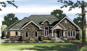 European Traditional House Plan 44045 Elevation