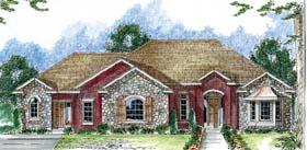 European Traditional House Plan 44047 Elevation