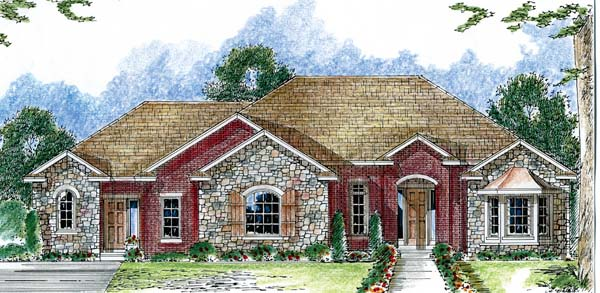 European Traditional House Plan 44047 Elevation