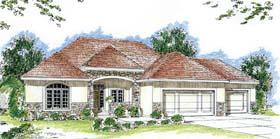 House Plan 44050 | Florida Mediterranean Southwest Style Plan with 2173 Sq Ft, 2 Bedrooms, 3 Bathrooms, 3 Car Garage Elevation