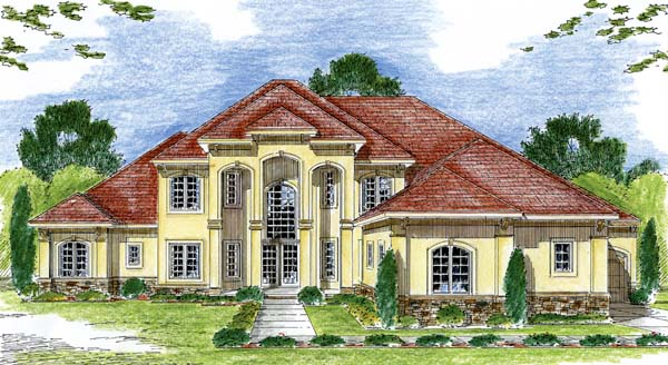 Florida Mediterranean Southwest House Plan 44051 Elevation