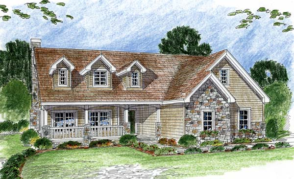 Cape Cod Traditional House Plan 44054 Elevation