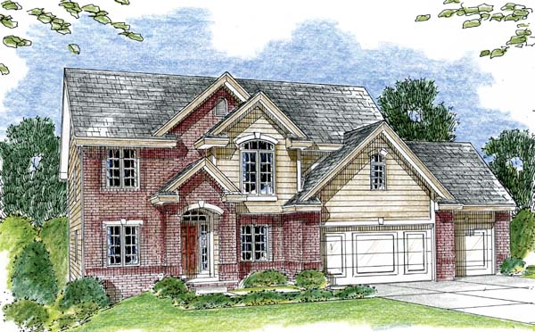 Traditional House Plan 44056 Elevation