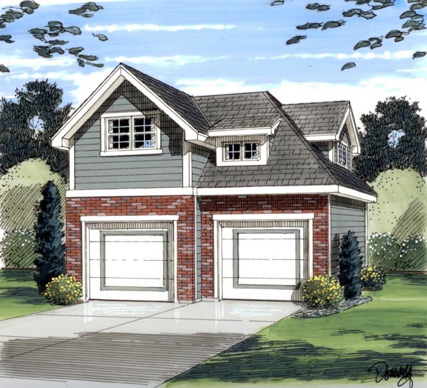 Garage Plan 44057 Elevation