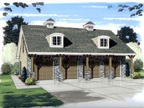 Garage Plan 44058 Elevation