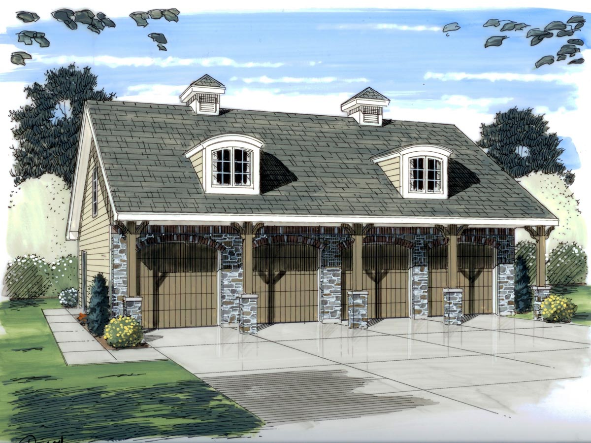 Garage Plan 44058 at FamilyHomePlans.com