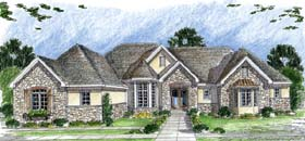European , Traditional House Plan 44064 with 1 Beds, 2 Baths, 3 Car Garage Elevation