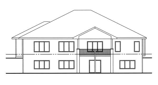 Florida Mediterranean Southwest House Plan 44066 Rear Elevation