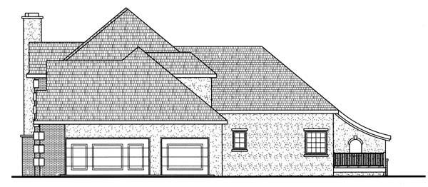 European House Plan 44074 Rear Elevation
