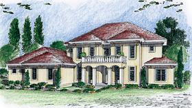 Florida Mediterranean Southwest House Plan 44075 Elevation