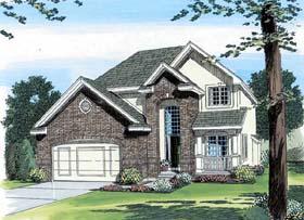 European Traditional House Plan 44076 Elevation
