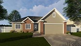 Plan Number 44077 - 1386 Square Feet