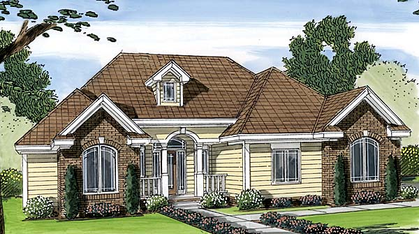 Traditional House Plan 44080 Elevation
