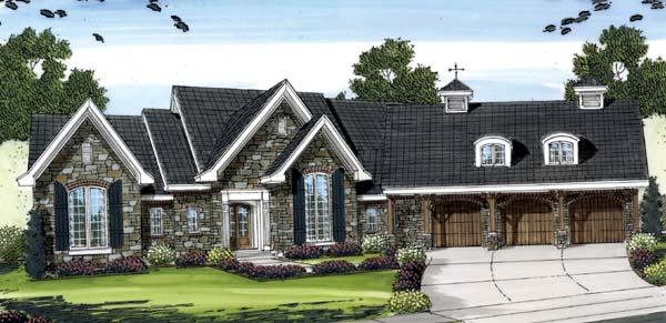 House Plan 44084 Elevation