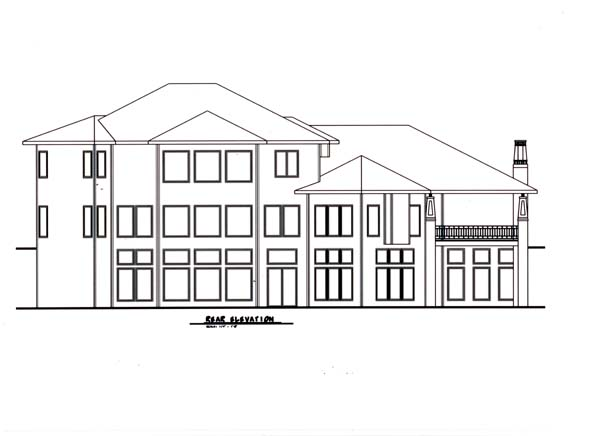 Craftsman House Plan 44086 Rear Elevation