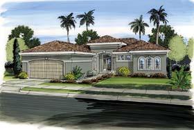 Florida Mediterranean Southwest House Plan 44091 Elevation
