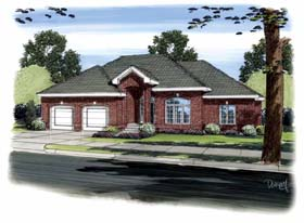 Traditional House Plan 44092 Elevation