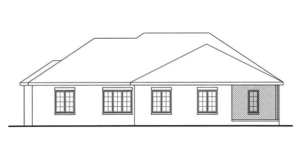 Traditional House Plan 44092 Rear Elevation